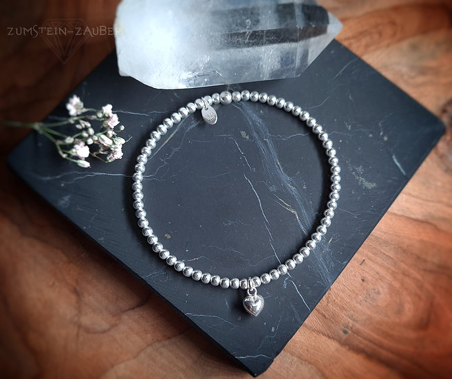 Silber Herz Armband