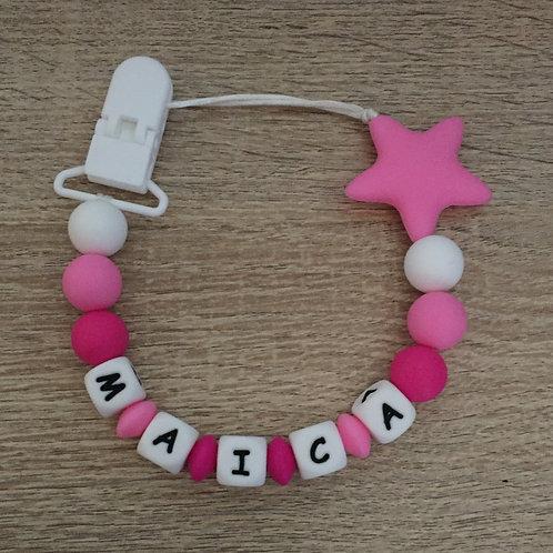 Chupetero Estrella Pink