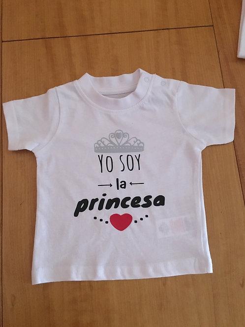 Camiseta Yo soy la princesa/príncipe