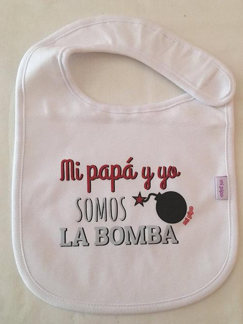 Babero Mi papá y yo somos la bomba