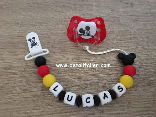 Chupetero Mickey + chupete
