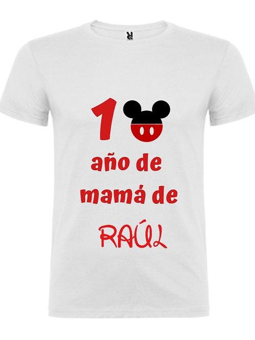 Camiseta cumple adulto mickey