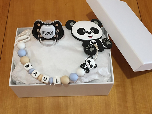 Cajita regalo oso panda