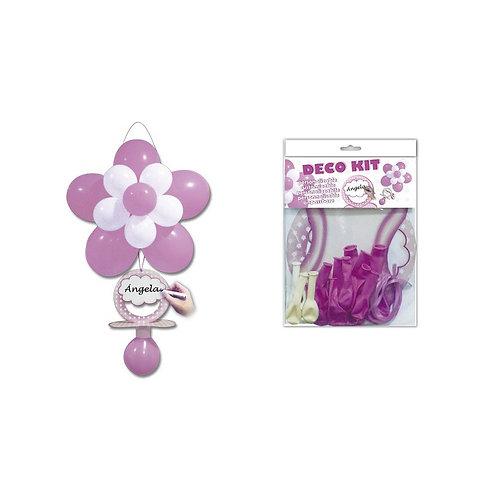 Kit globos + Chupete rosa
