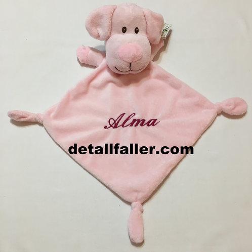 Doudou perrito rosa + bordado