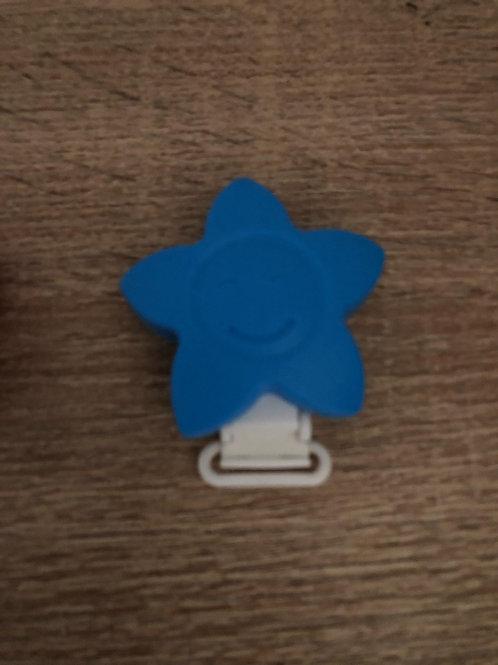 Pinza Estrella de silicona azul