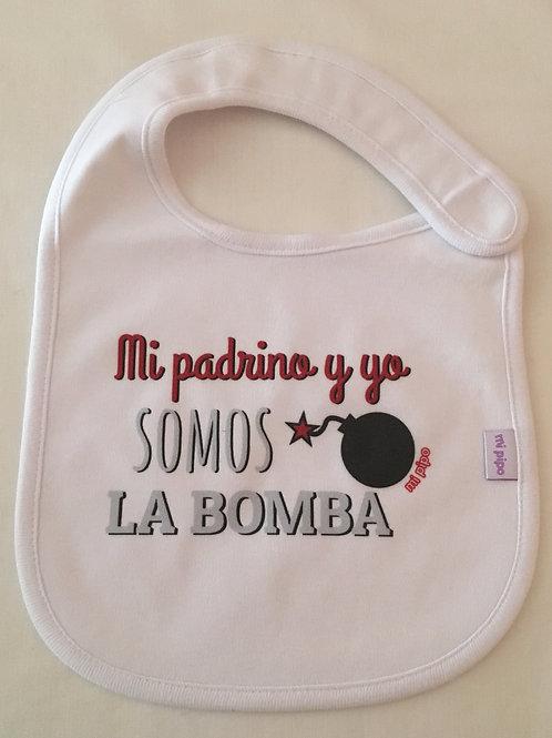 Babero Mi padrino y yo somos la bomba