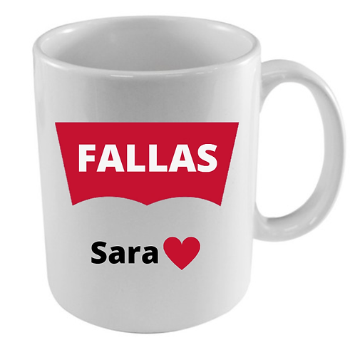Taza Fallas + nombre