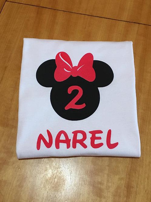 Camiseta Cumpleaños Minnie/mickey