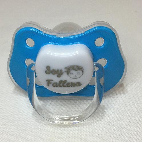 Chupete Soy Fallero azul pitufo