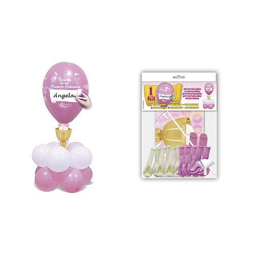 Kit globos + Comunión Rosa