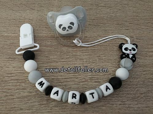Chupetero Panda + Chupete