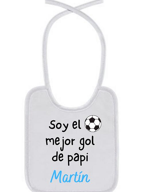 Babero Soy el mejor gol de papi