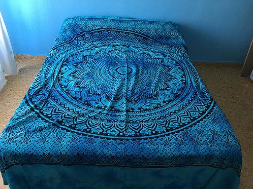 Colcha Mandala Azul
