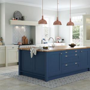 Wakefield-Painted parisian blue