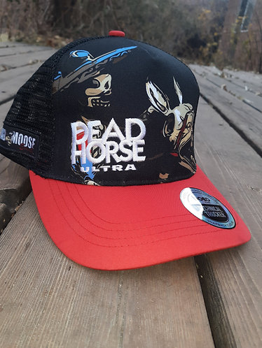 Black and Red Dead Horse Hat