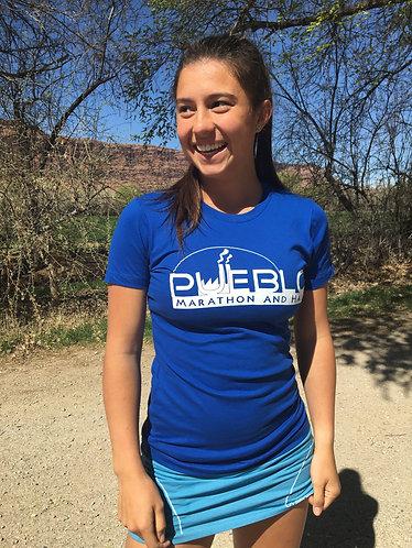 Pueblo Marathon and Half T-Shirt Blue