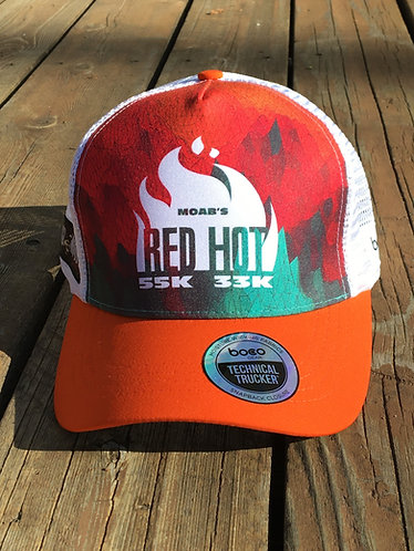 Red Hot Hat Orange/White
