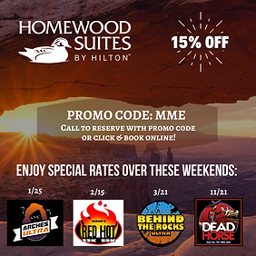 Special rates over these race weekends..