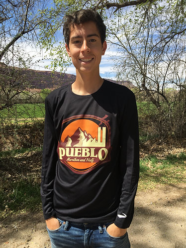 Pueblo Marathon and Half Black Long Sleeve