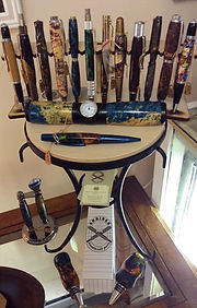 Pens, wine stoppers, single cigar humidors and other items crafted from specialty woods