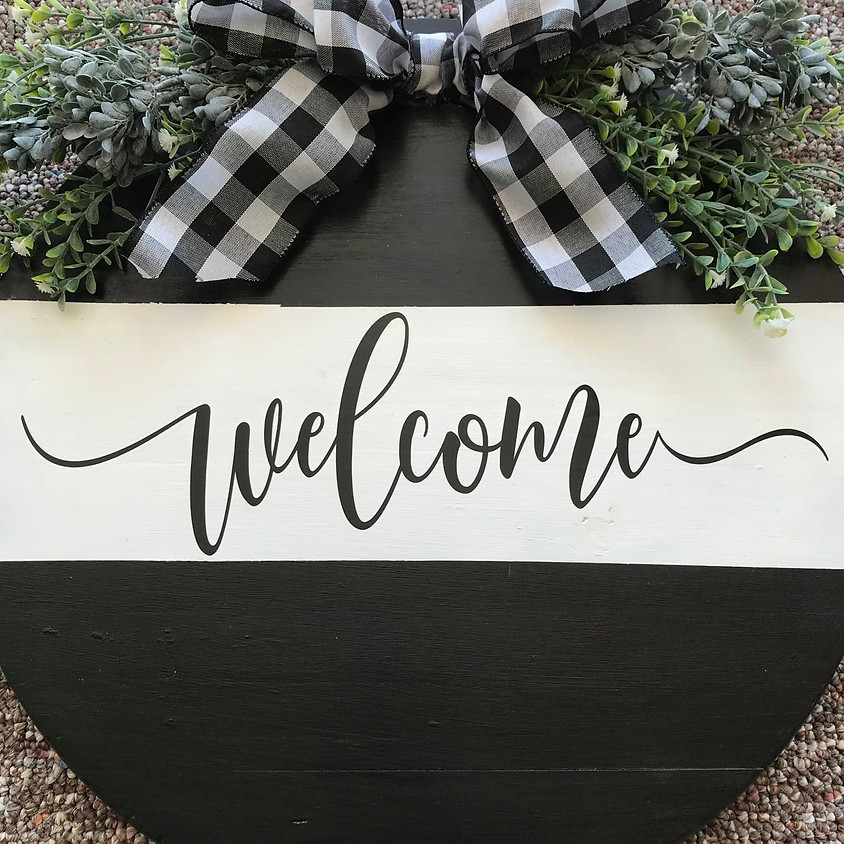 Farmhouse Round Wood Sign    SOLD OUT