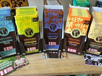Assorted coffees, teas and choocolates