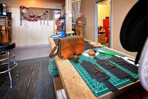 Custom Leather Fox Purse