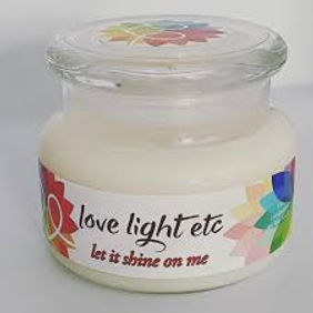 Natural soy based candles