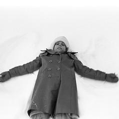 Liz snow angel 1978
