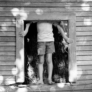 Patrick in the old tool shed