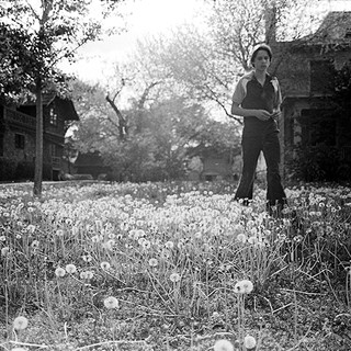 Paul standing on the front lawn