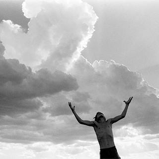 Joe and Kansas clouds 1978