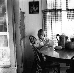 Liz with a rabbit1978