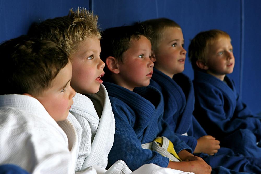 Kids at Jiu-Jitsu Class, Families enjoy martial arts better together