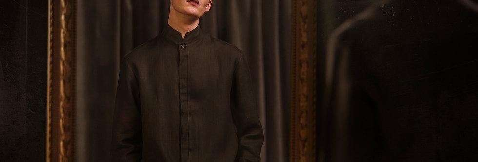 The black shirt