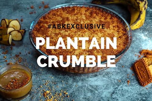 Plantain Crumble Recipe