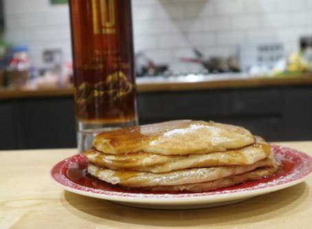 Rum & Raisin Fluffy Pancakes