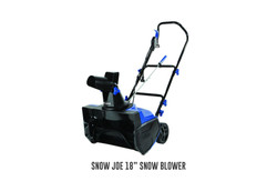 "Snow Joe 18"" snow blower"