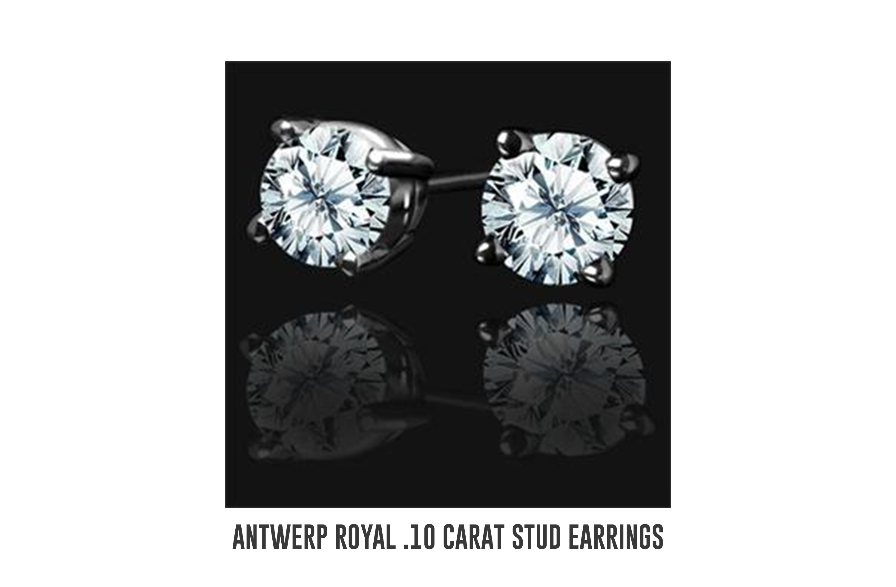 Antwerp Royal .10 carat stud earrings
