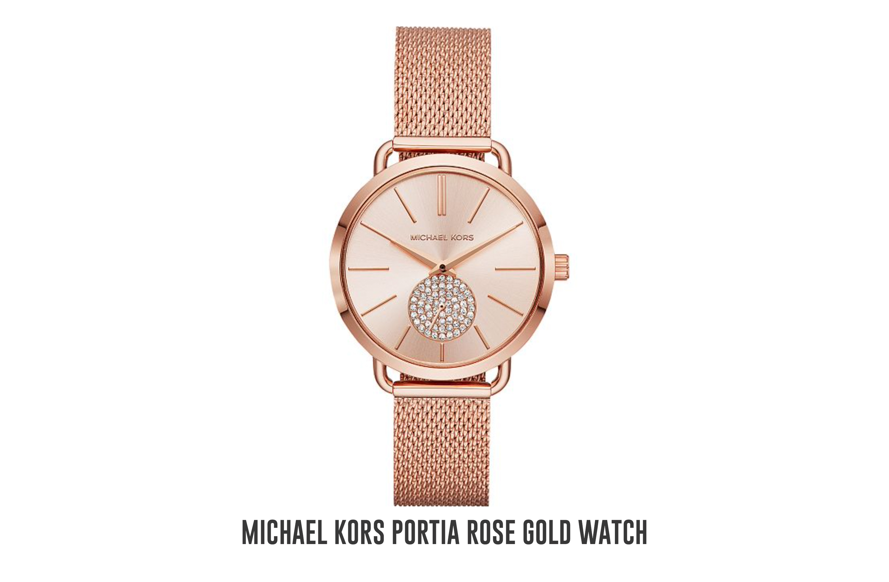 Michael Kors Portia rose gold watch