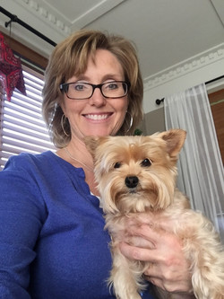 Jani (CFO) and her dog, Marlee