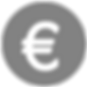 Grey Circular Euro Sign