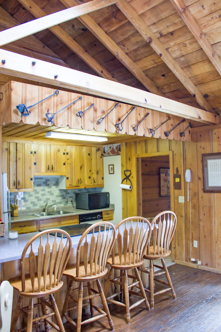 Kitchen at Branding Iron Cabin