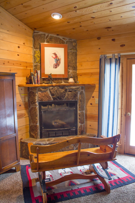 Branding  Iron Cabin Master Bedroom