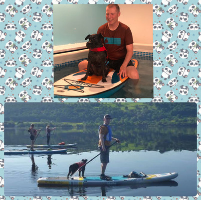 Rigby and his Hoodad, Alex, who's a paddleboard instructor. Check him out at www.xt-sup.co.uk