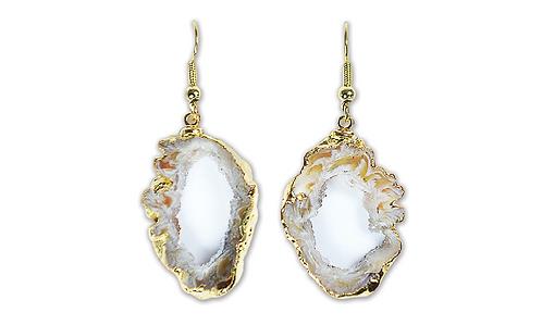 Geode Slice | Hook Earrings
