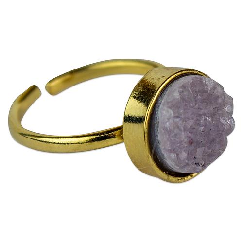 Agate Druzy   Simple Band Rings