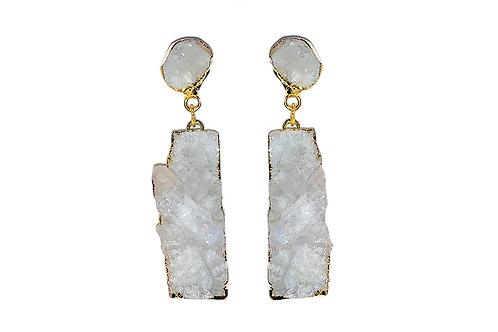 Crystal Cluster | Double Dropper Earrings