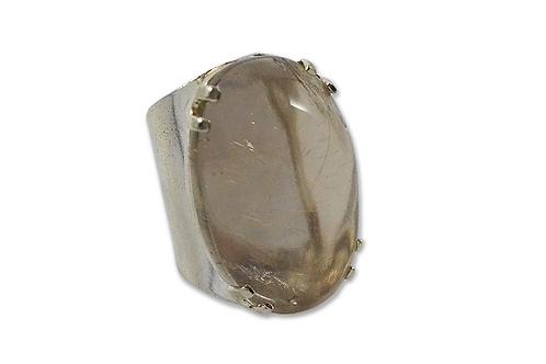 Smoky Crystal | Cuff Ring